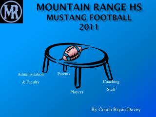 Mountain Range HS Mustang Football 2011