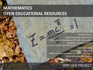 MATHEMATICS  OPEN EDUCATIONAL RESOURCES