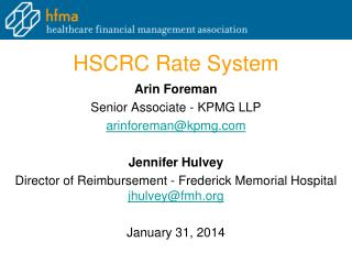 HSCRC Rate System