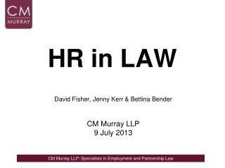 HR in LAW