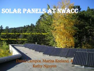 Solar Panels at NWACC