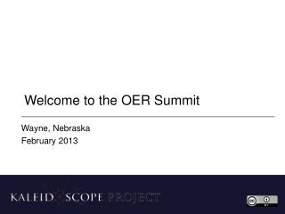 Welcome to the OER Summit
