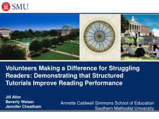Volunteers Making a Difference for Struggling Readers: Demonstrating that Structured Tutorials Improve Reading Performan