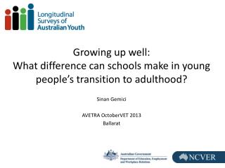 Growing up well: What difference can schools make in young people's transition to adulthood?
