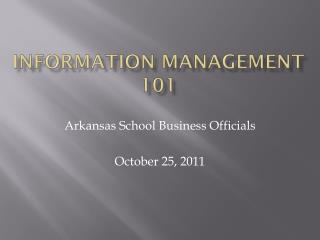 Information Management 101