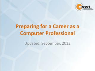Preparing for a Career as a Computer Professional