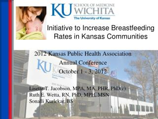 Initiative to Increase Breastfeeding Rates in Kansas Communities