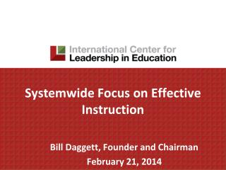 Systemwide  Focus on Effective Instruction