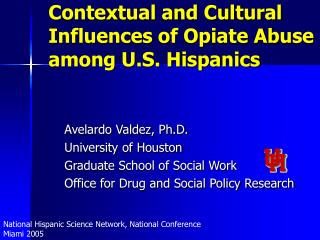 Contextual and Cultural Influences of Opiate Abuse among U.S. Hispanics