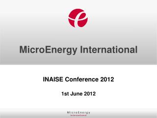 MicroEnergy  International