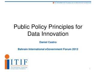 Public Policy Principles for Data Innovation