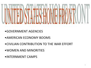 UNITED STATES HOME FRONT