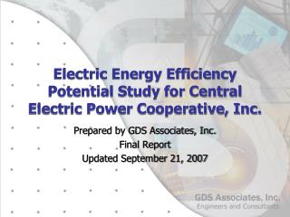 Electric Energy Efficiency Potential Study for Central Electric Power Cooperative, Inc.