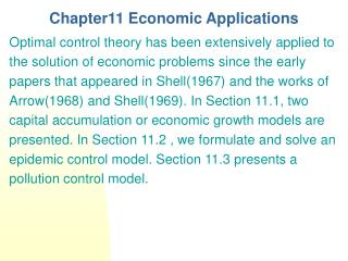 Chapter11 Economic Applications