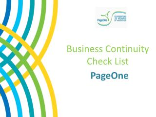 Business Continuity  Check  List