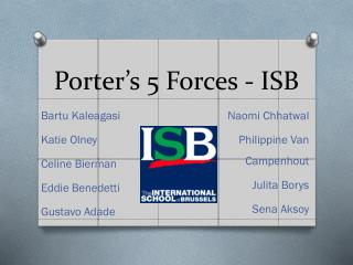 Porter's 5 Forces - ISB