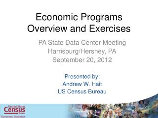 Economic Programs Overview and Exercises