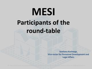 MESI Participants of the round-table
