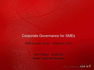 Corporate Governance for SMEs
