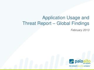 Application Usage and Threat Report – Global Findings