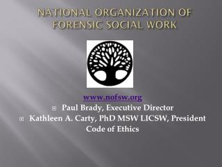 NATIONAL ORGANIZATION OF FORENSIC SOCIAL WORK