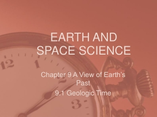 chapter 9 geologic time