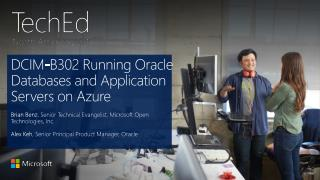 DCIM-B302 Running Oracle Databases and Application Servers on Azure