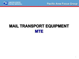 Mail Transport equipment