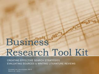 Business Research Tool Kit