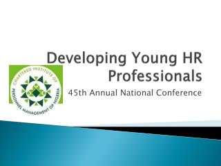 Developing Young HR Professionals