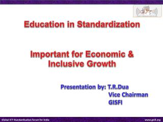 Education in Standardization Important for Economic & Inclusive Growth