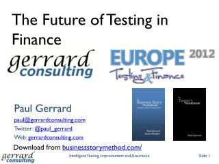 The Future of Testing in Finance