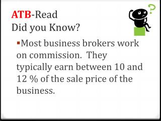 ATB -Read Did you Know?