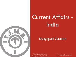 Current Affairs - India