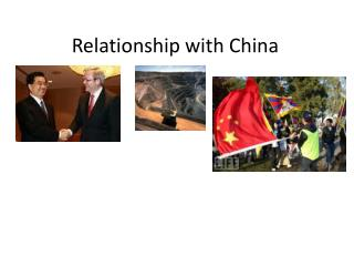 Relationship with China
