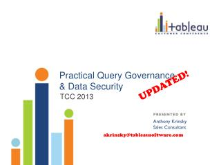 Practical Query Governance  & Data Security
