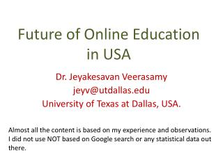 Future of Online Education in USA