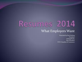 Resumes   2014