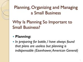 Why Is Planning So Important to Small Business?
