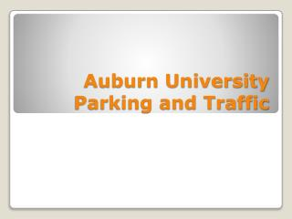 Auburn University Parking and Traffic