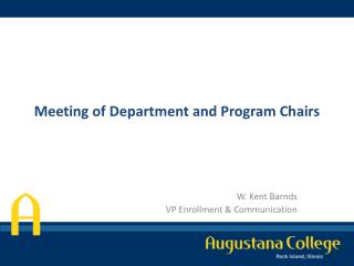 Meeting of Department and Program Chairs