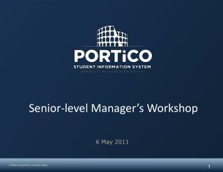 Senior-level Manager's Workshop