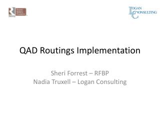 QAD  Routings Implementation