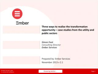 Simon Foot Consulting Director Ember Services