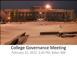 College Governance Meeting