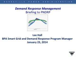 Demand Response  Management Briefing to PNDRP