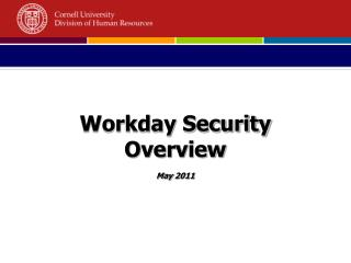 Workday Security Overview May 2011