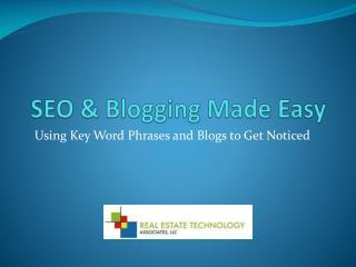 SEO  & Blogging Made Easy