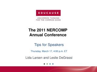 The  2011 NERCOMP Annual Conference