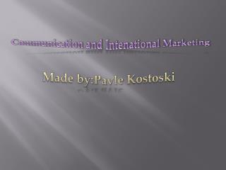 Made by:Pavle Kostoski